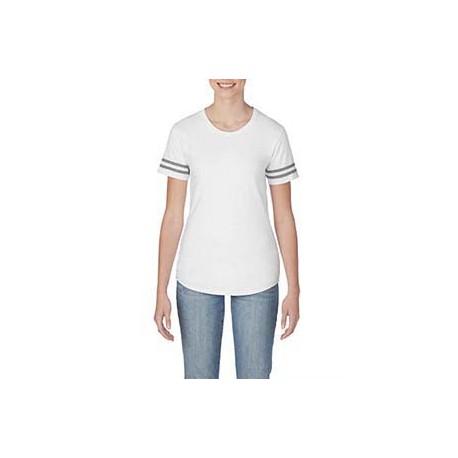G500VTL Gildan G500VTL Heavy Cotton Ladies Victory T-Shirt WHITE/ GRP HTHR