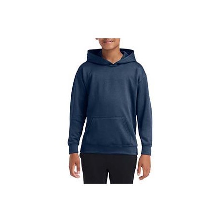 G995B Gildan G995B Performance Youth 7 oz Tech Hooded Sweatshirt SPORT DARK NAVY