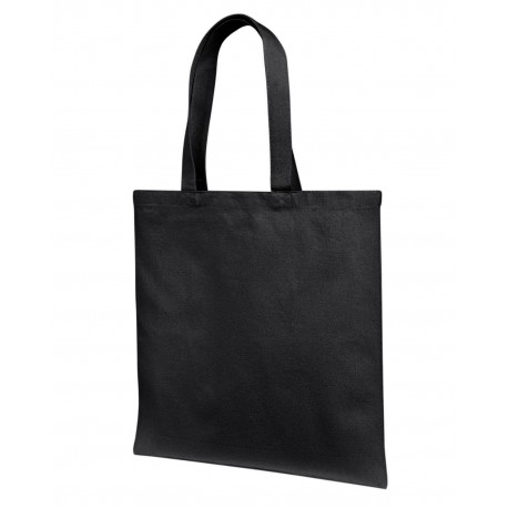 LB85113 Liberty Bags LB85113 12 oz Cotton Canvas Tote Bag With Self Fabric Handles BLACK