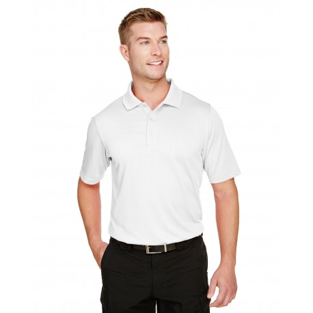 M348 Harriton M348 Mens Advantage Snag Protection Plus Polo WHITE