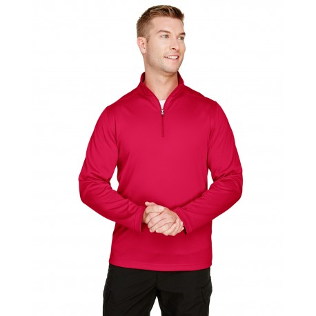 M748 Harriton M748 Mens Advantage Snag Protection Plus Quarter-Zip RED