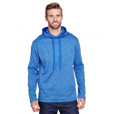 N4103 A4 N4103 Mens Tonal Space Dye-Tech Fleece Hoodie LIGHT BLUE