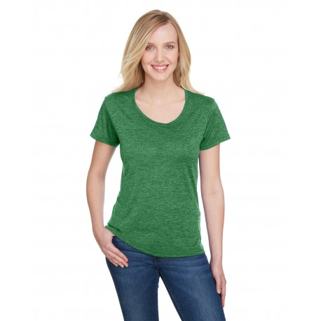 NW3010 A4 NW3010 Ladies Tonal Space-Dye T-Shirt KELLY
