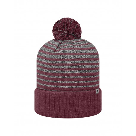 TW5001 Top Of The World TW5001 Adult Ritz Knit Cap BURGUNDY