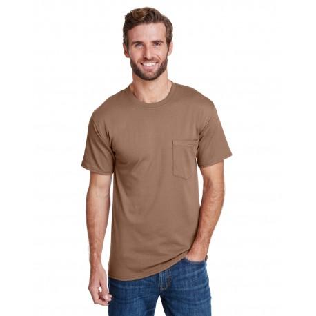 W110 Hanes W110 Adult Workwear Pocket T-Shirt ARMY BROWN